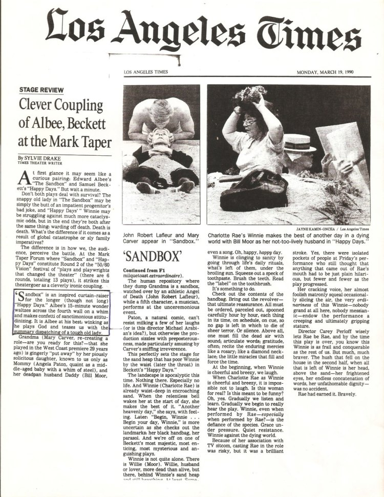 The Sandbox - 1990