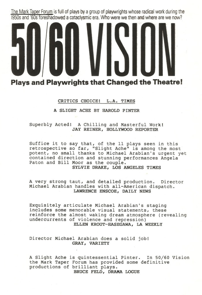 50/60 Vision @ Mark Taper